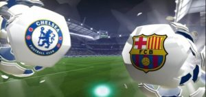 Chelsea-Barca football in Barcelona